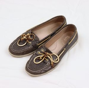 Top Sider Brown Leather Sperry Sliders